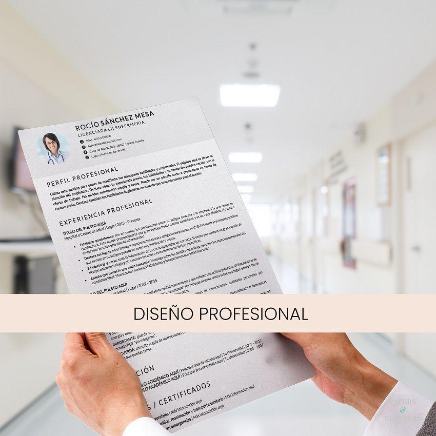 curriculum vitae enfermera